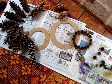 Hacer coronas navideñas DIY con niños blog Querolets 3