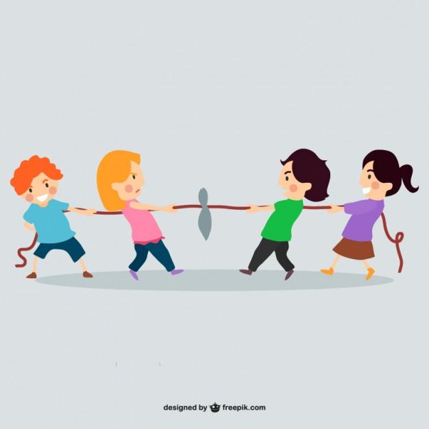 Niño jugando con la cuerda