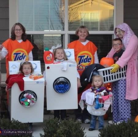 disfraz familias limpias