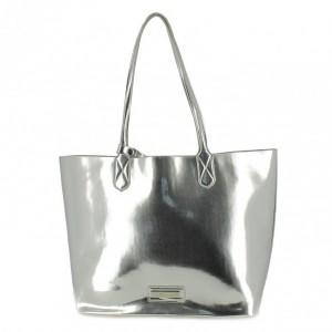 bolso maria mare plateado metalico - querol