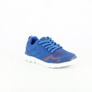 zapatillas quets! azul y naranja niños - querolets