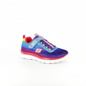 zapatillas skechers niños con estampado arco iris - querolets