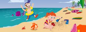 Queta y Quet en la playa