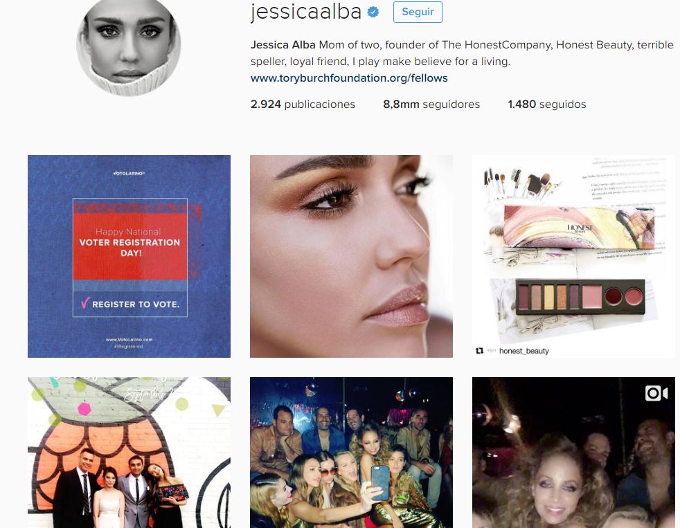 jessica alba /mamás famosas en instagram