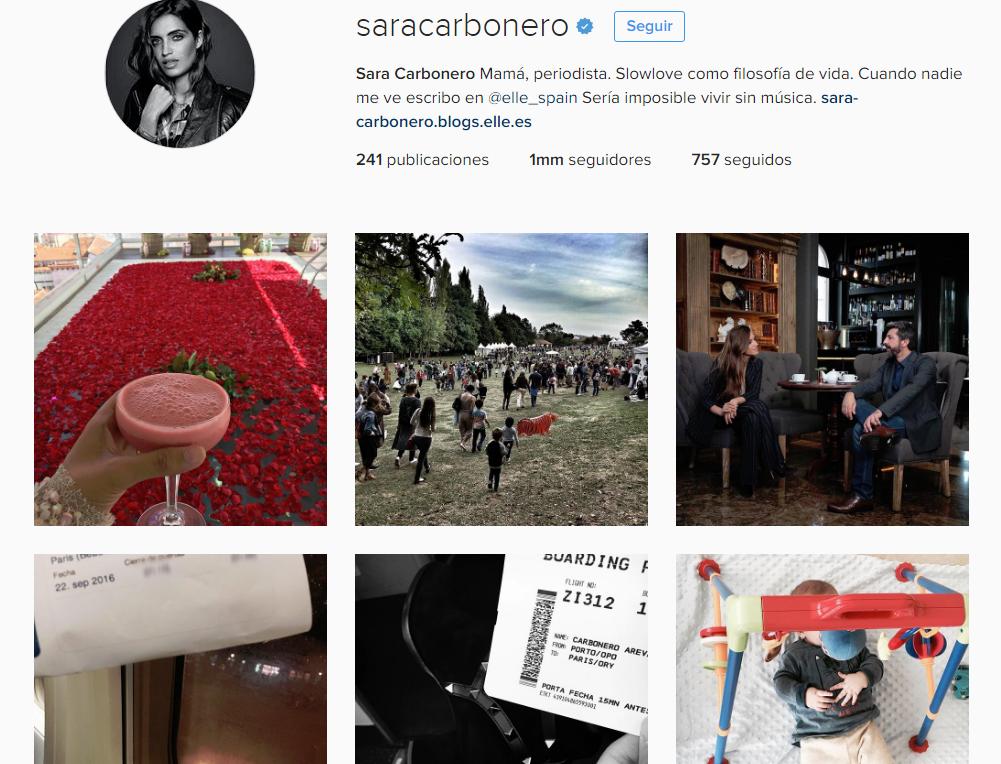 sara carbonero/mamás famosas en instagram