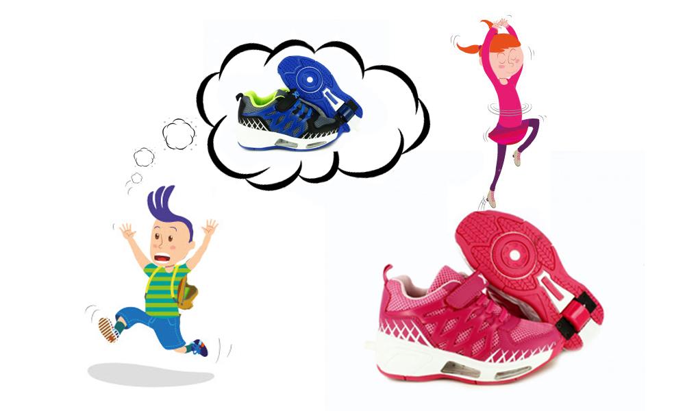 carta a papá noel. zapatillas con ruedas en www.querolets.net