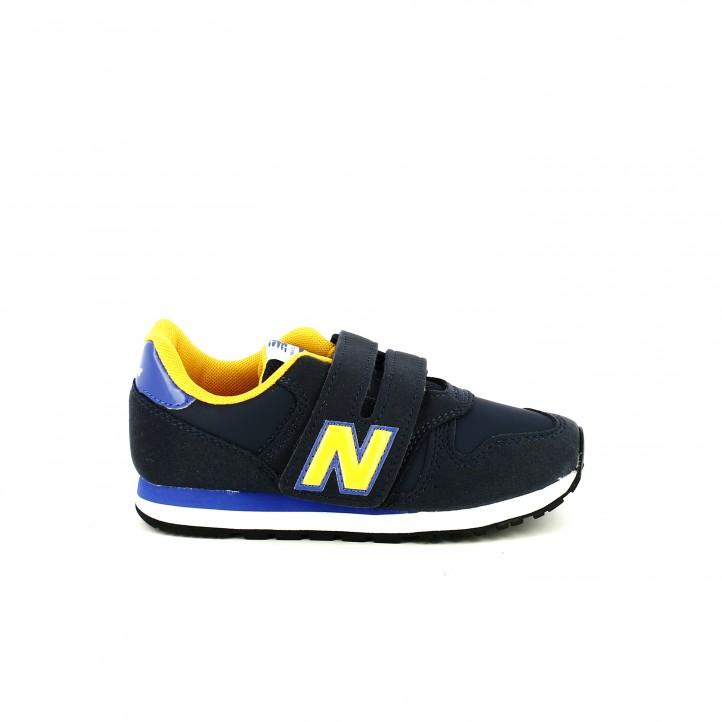 zapatillas deporte new balance 373 azules y amarillas