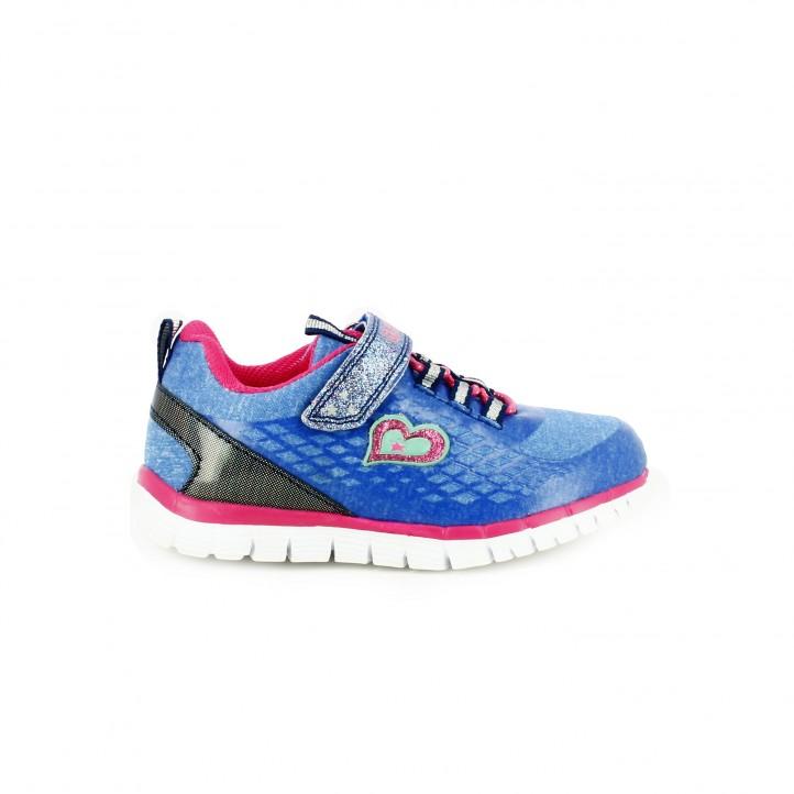 zapatillas deporte quets azules y rosa