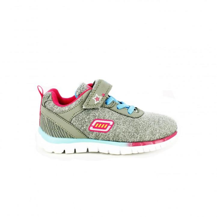 zapatillas deporte quets grises con elasticos