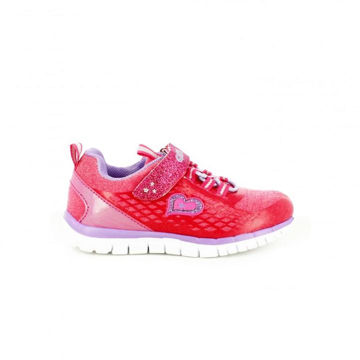 zapatillas deporte quets rosas y lilas