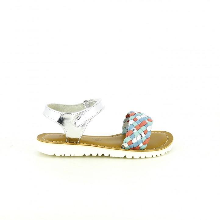 colección de zapatos de primavera / sandalias kickers trenzadas multicolor de piel