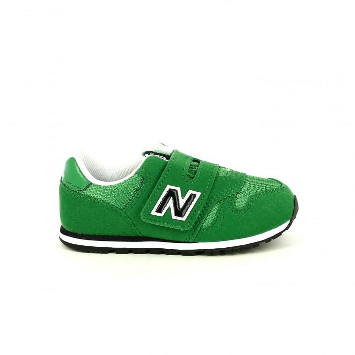 colección de zapatos de primavera / zapatillas deporte new balance 373 verdes y negras