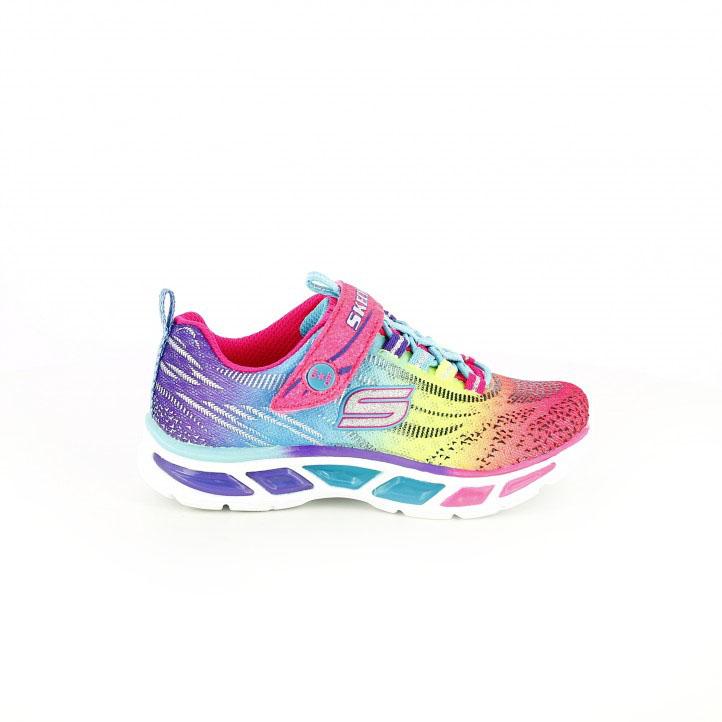 colección de zapatos de primavera / zapatillas deporte skechers multicolor con luces