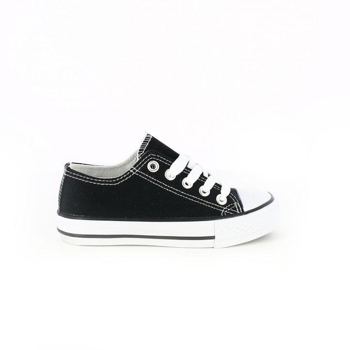 colección de zapatos de primavera / zapatillas lona quets negras y blancas