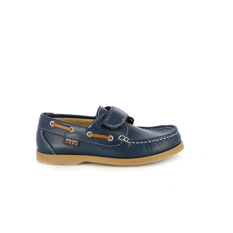 zapatos pablosky mocasines azules de piel