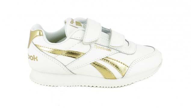 zapatillas deporte reebok blancas y doradas