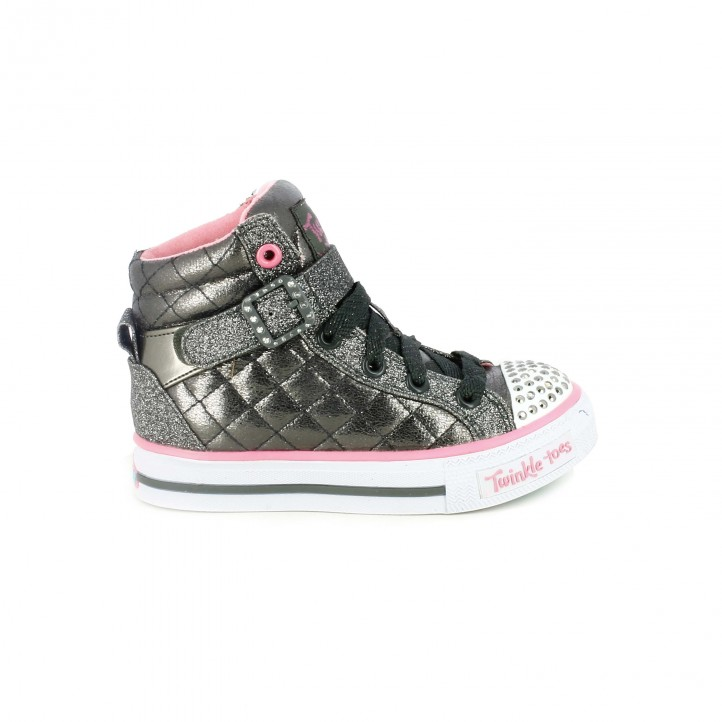 zapatillas deporte skechers botas grises con luces