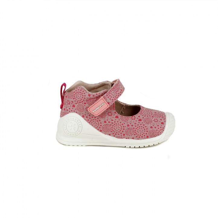 botas Biomecanics con estampado rosa - zapatos para los pies de tu bebé