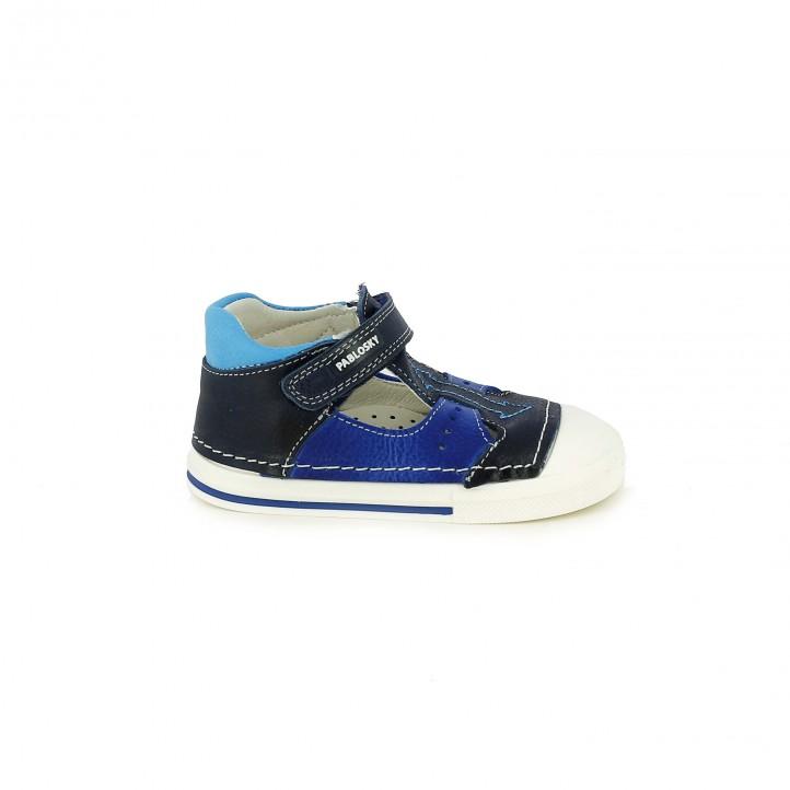 Botas Pablosky azules abiertas - zapatos para los pies de tu bebé
