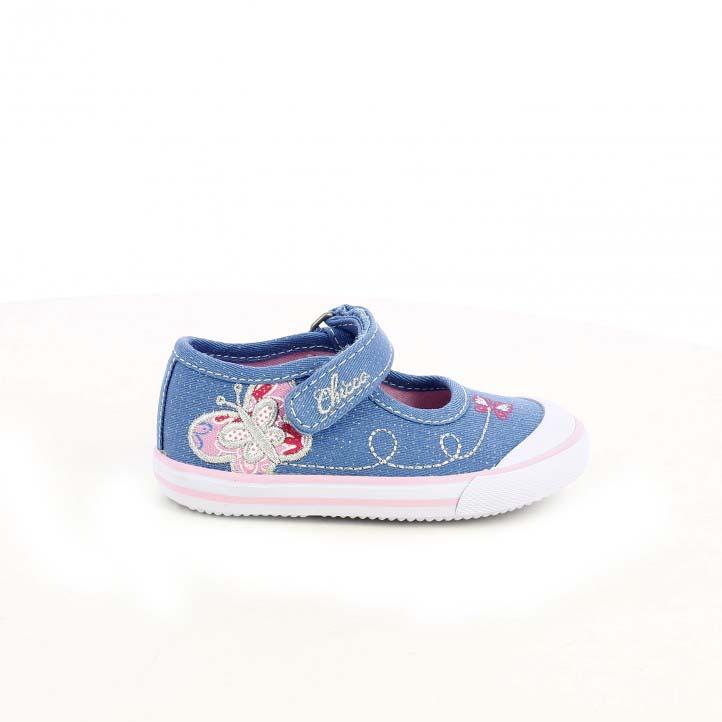 Zapatillas Chicco azules con mariposas - zapatos para los pies de tu bebé