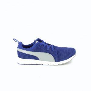 zapatillas puma niños azules y grises cordones - querolets