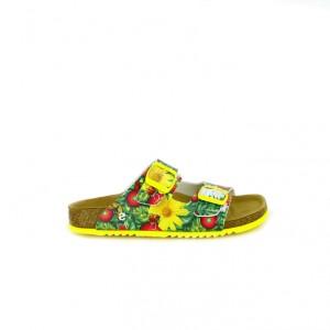 sandalias desigual niña bios con flores amarillas - querolets