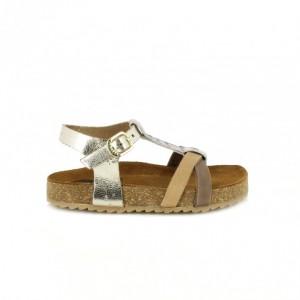 sandalias gioseppo para niña en marron y dorado - querolets
