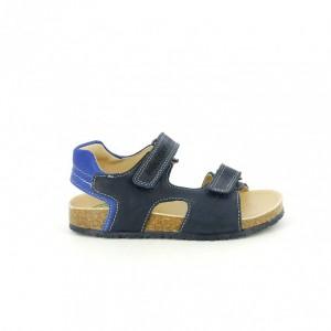 sandalias bios pablosky niño azules con velcro - querolets
