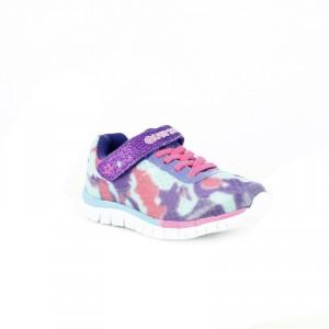 zapatillas quets! velcro purpurina niña - querolets