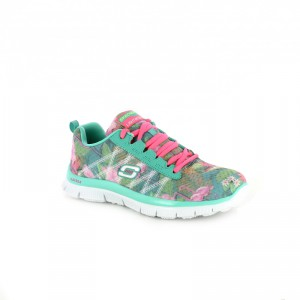 zapatillas skechers niña estampado tropical - querolets