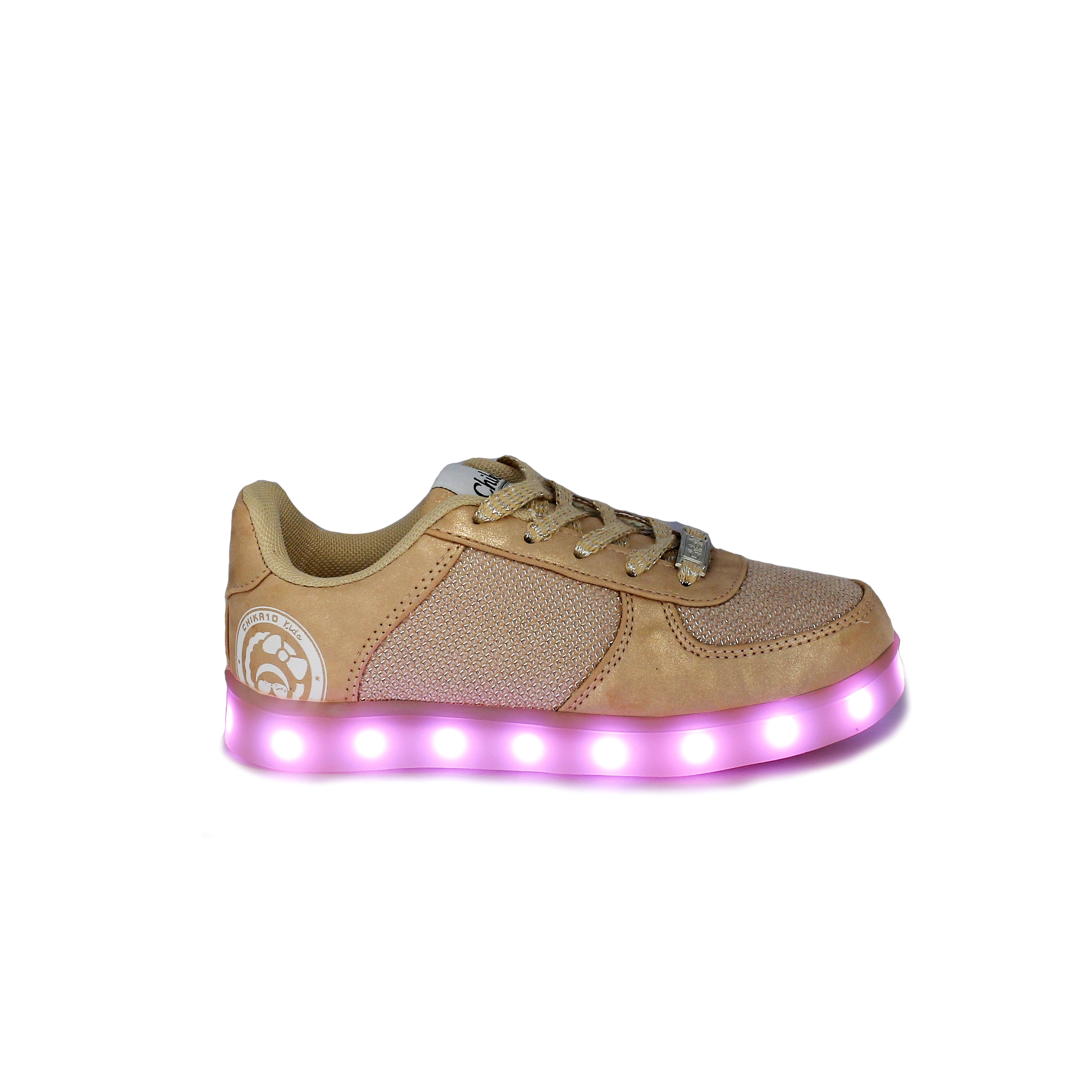 zapatillas rosas con luces led