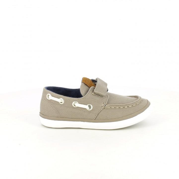 zapatillas lona gioseppo nauticos grises con velcro