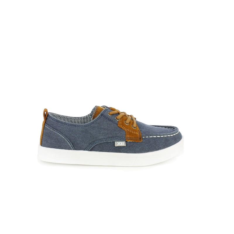 zapatillas lona xti nauticos azules