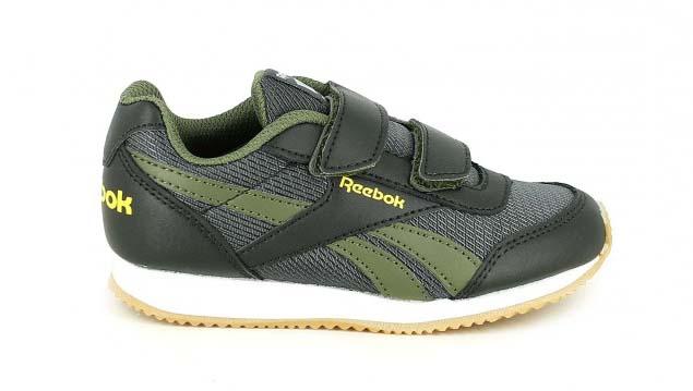 zapatillas deporte reebok verdes y negras con velcros