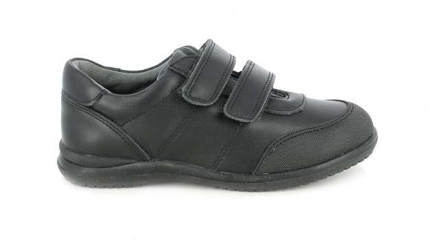 zapatos quets negros de piel con velcros