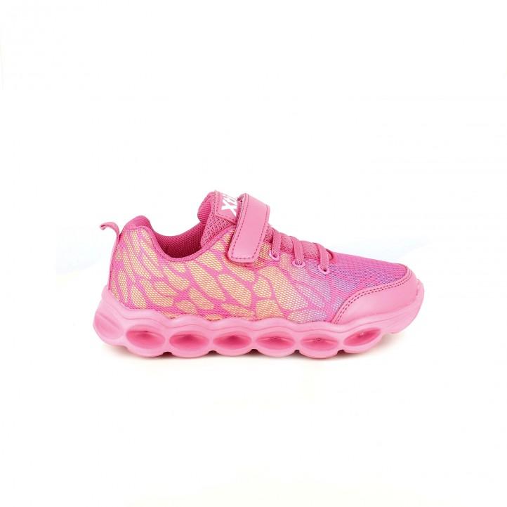 zapatillas deporte xti rosas con luces